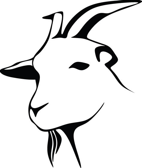 goat clipart black and white free clipart of a black and white goat