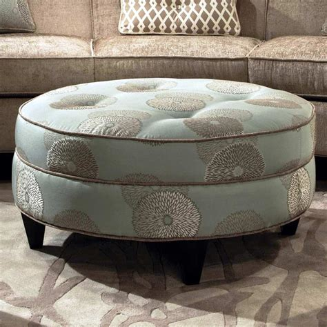 Ottoman Upholstery by Esse Fabric Ottoman Tufting Beverly Drizzle Dcg