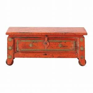 Banc Coffre Maison Du Monde : coffre indien en manguier massif orange l 101 cm safran ~ Premium-room.com Idées de Décoration