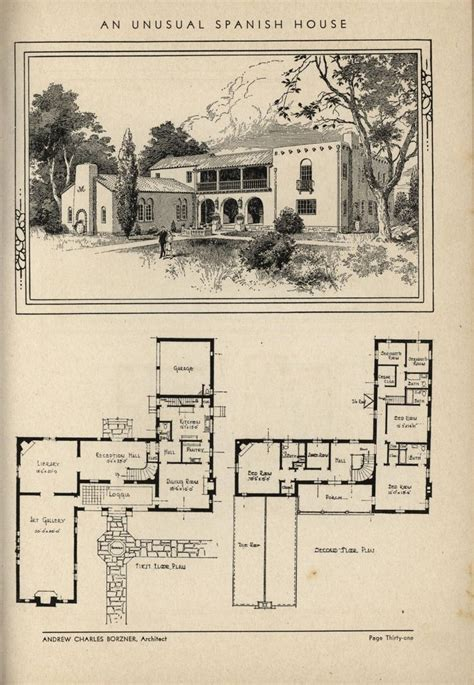 antique spanish house plans style house plans