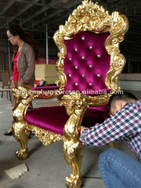 king and throne chairs for hotel for wedding