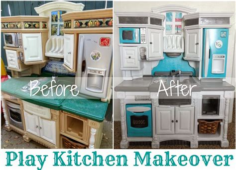 emilys plastic play kitchen makeover reveal  bits