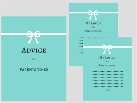 baby shower advice cards magical printable