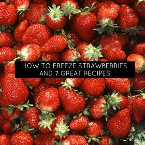 how to freeze strawberries what to make with all those strawberries and how to freeze them