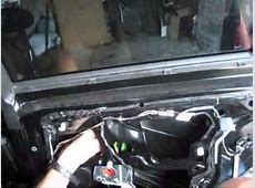 How to replace a window regulator on a BMW 3 series E90