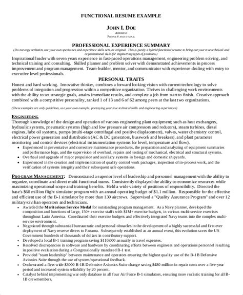 Functional Resume Sle by Webster St Louis Functional Resume Technical