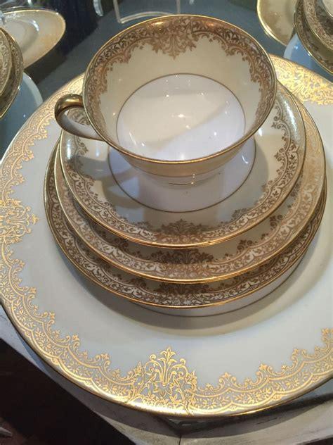 dinnerware noritake place settings dinner trim christmas 1930 pattern flower cream china sets pieces flowers circa crockery piece