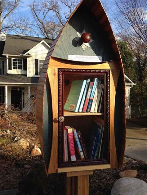 cute   library design ideas recycling  gifts  yard decorations