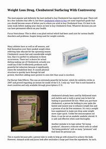 Weight Loss Drug  Clenbuterol Surfacing With Controversy By Onlifestyleangel
