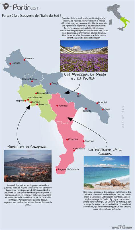 Carte Sud De Et Italie by Que Voir En Italie Du Sud Cartes Touristiques Et