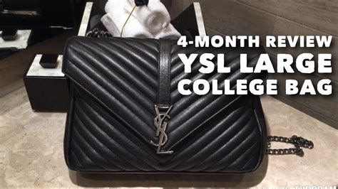 month review ysl large college bag whats