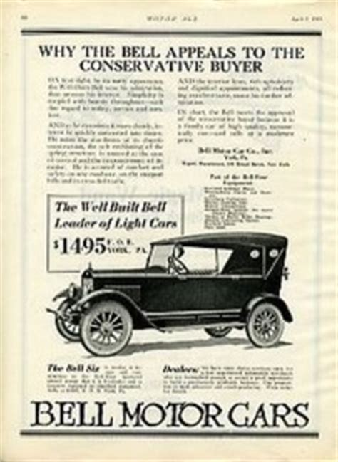 1000+ Images About Bell Motor Car Co Ads On Pinterest