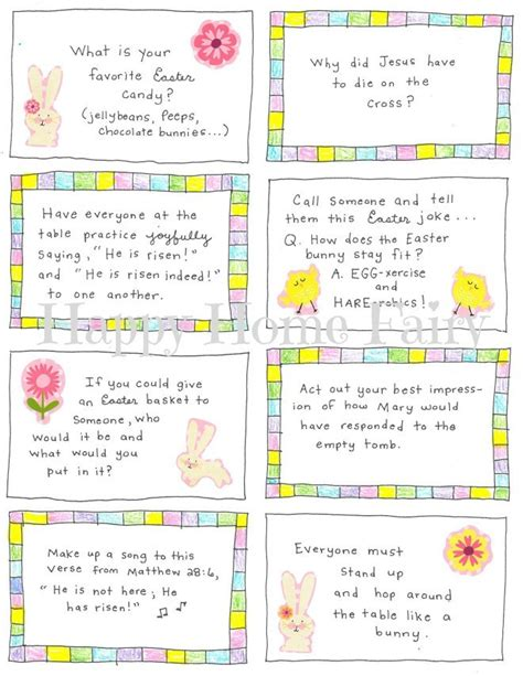 easter conversation cards  printable happy home fairy