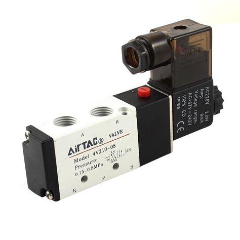 Airtac 4v210-08 Dc24v Air Valve 5 Port 4 Way 2 Position