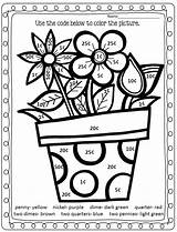 Math Coloring Pages Number Money Printable sketch template