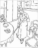 Camille Maid Pissarro Coloring Country Printable Adults sketch template