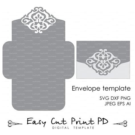 cricut templates wedding envelope template instant cutting file svg dxf ai eps png pdf printable