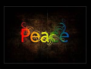 The Word Peace Colorful - wallpaper.