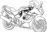 Coloring Pages Motorcycle Printable sketch template