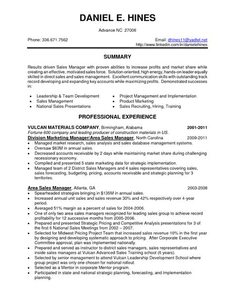 sales resume words test templates free marketing executive