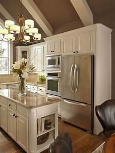 I love a white kitchen white and taupe kitchen with for Kitchen colors with white cabinets with love quote wall art