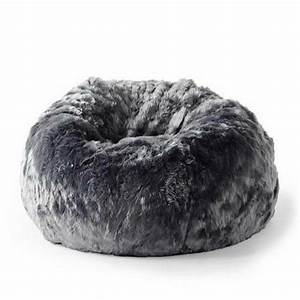 Fur, Beanbag, Cover, Soft, Plush, Charcoal, Grey, Cloud, Bean, Bag, Lounge, Chair, New