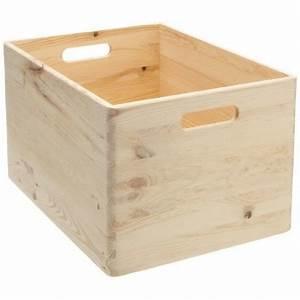 Boite à Thé Bois : bo te de rangement en bois pin massif 40 x 30 x 24 cm ~ Teatrodelosmanantiales.com Idées de Décoration