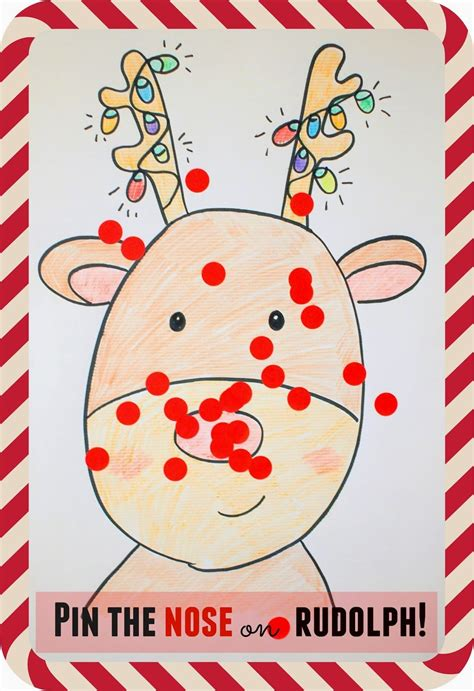 pin  nose  rudolph game school christmas party