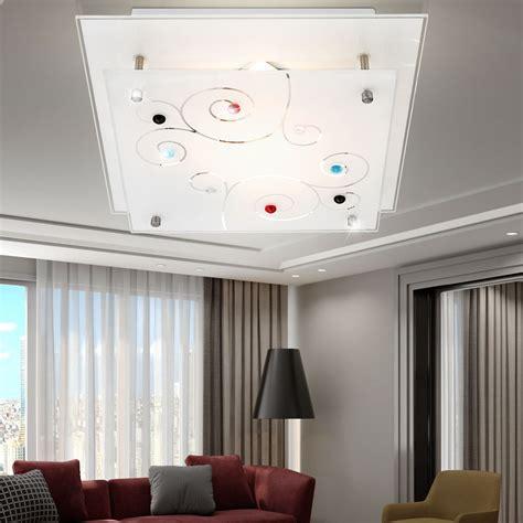 luminaire plafond chambre plafonnier chrome verre satiné éclairage luminaire plafond