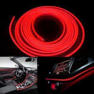 Neon Led 12v : 5m 12v red neon led light glow el wire car interior deco lamp strip rope tube ebay ~ Medecine-chirurgie-esthetiques.com Avis de Voitures