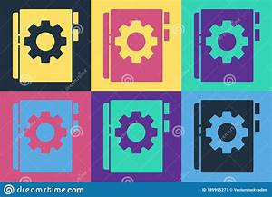 Pop Art User Manual Icon Isolated On Color Background