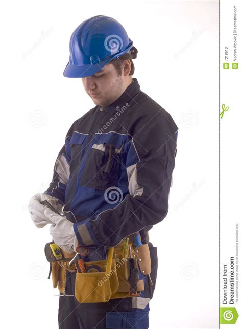 construction worker outfit stock  image