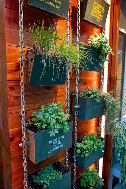 Garden Ammo Herb Cans Herbs Redwood Normally