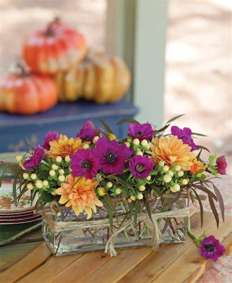 Tabletop Arrangements by Fall Floral Arrangement Southern Lady Magazine