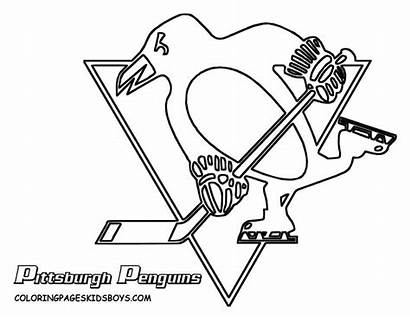 Pages Coloring Penguins Pittsburgh Hockey Penguin Nhl