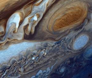 Close up of jupiter39s great red spot science wire earthsky for Up close images of jupiter
