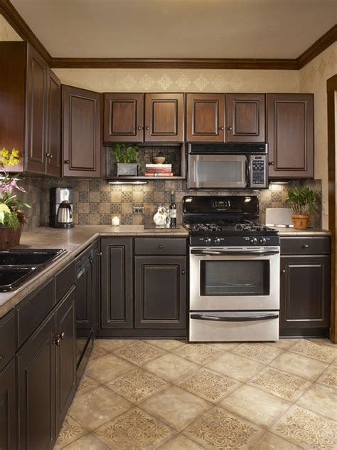 Ceramic Tile Kitchen Floor Ideas by Combination Of Kitchen Tiles Beige Cerammic Floor
