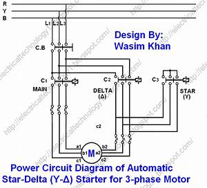 Star Delta Power Circuit Diagram