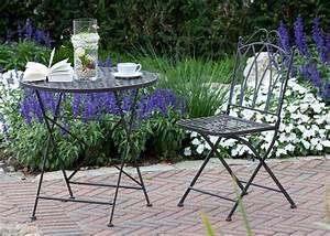 Runder Tisch Mit Stühlen : sitzgarnitur vida sitzgruppe runder tisch mit 2 st hlen metall gartengarnitur ebay ~ Sanjose-hotels-ca.com Haus und Dekorationen