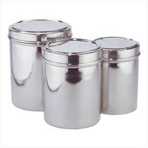 stainless steel kitchen canisters stainless steel kitchen storage canisters set of three