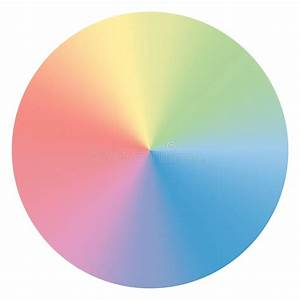 Color Spectrum Abstract Wheel  Colorful Diagram Stock