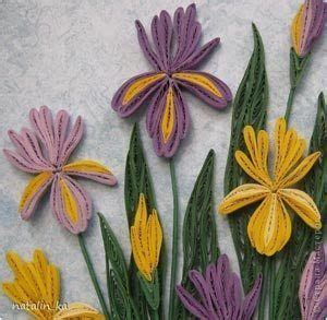 quillspiration paper quilled iris flowers simple