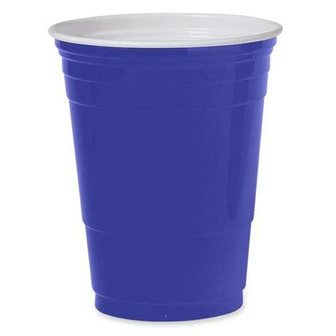 Solo Plastic Party Cup   Blue   1000 Carton   Quickship.com
