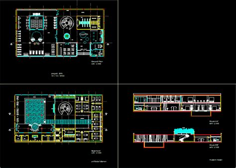 spa dwg full project  autocad designscad