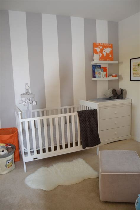grey and white crib grey white and orange nursery project nursery