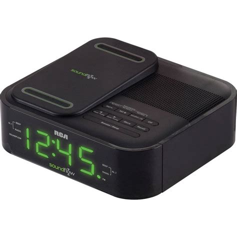 android clock radio rca soundflow wireless android iphone dock alarm clock fm