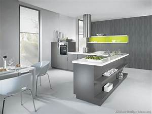 modern gray kitchen cabinets with white laminate top With best brand of paint for kitchen cabinets with wall art for dining room contemporary