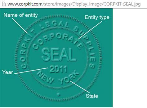 corporate seal template posts architecturegala