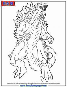 Free Godzilla Coloring Pages - Coloring Home