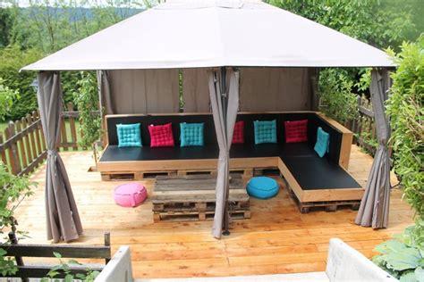 pallets made furniture garden gazebo deck pallet